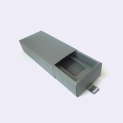 Custom printed paper sliding drawer box with Ribbon Handle