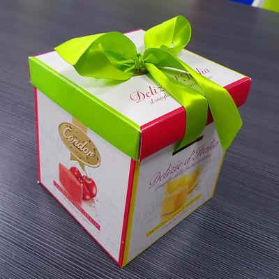 Candy paper box with silk and nice Printing hand-making